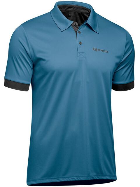 Gonso Litho Koszulka kolarska, krótki rękaw Mężczyźni niebieski